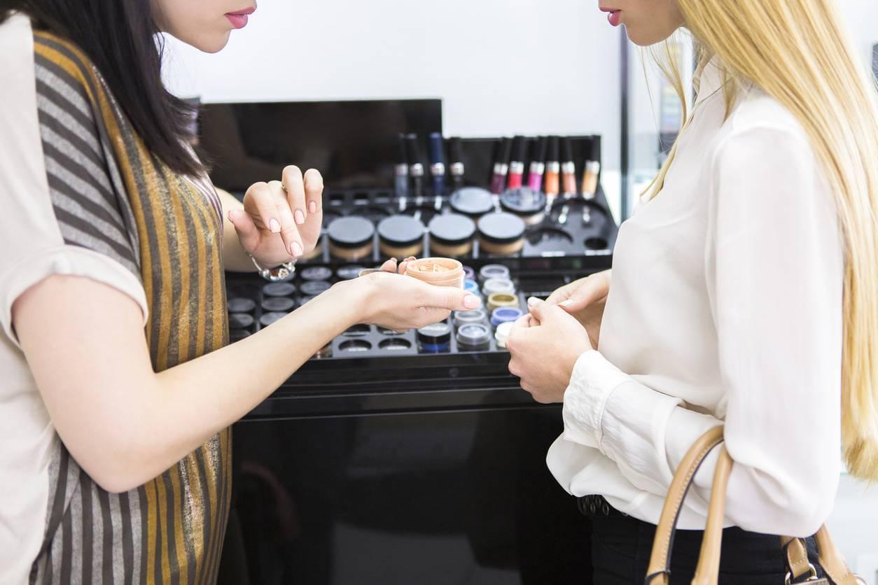 test échantillon maquillage
